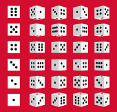 Creative vector illustration of isometric 3d gambling dice combination isolated on transparent background. Art design game cubes. Abstract concept graphic casino 24 turns cube element.