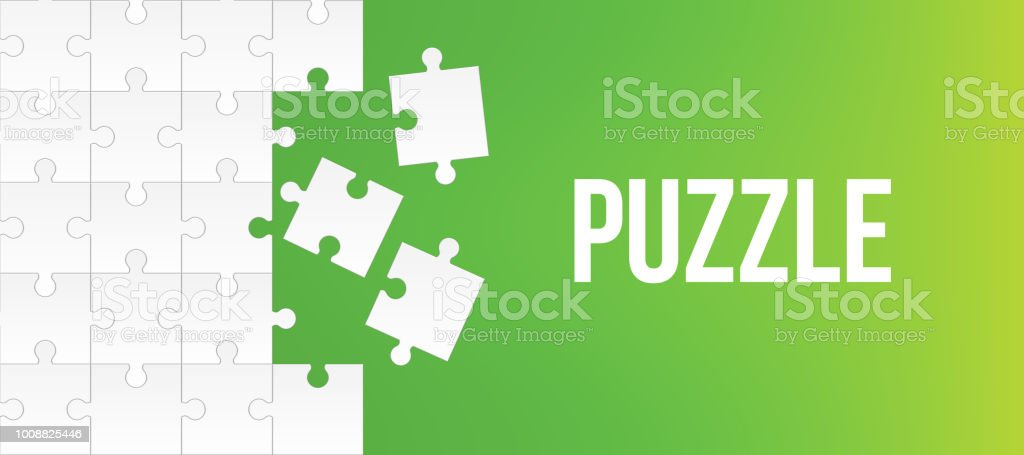 Creative Vector Illustration Of Jigsaw Puzzle Pieces Background