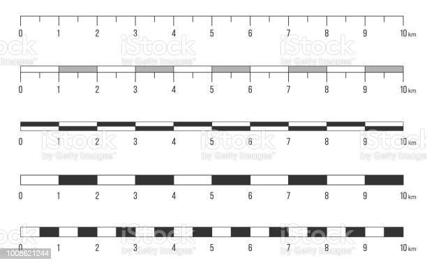 Creative vector illustration of map scale line set isolated on art vector id1008621244?b=1&k=6&m=1008621244&s=612x612&h=xtbymlwtjbznkvk3xhlhq98sl9k24ref klqv j5jdq=