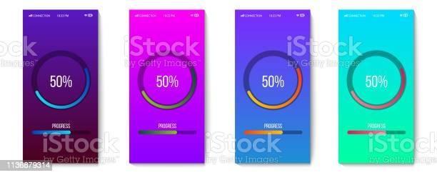 Creative vector illustration of mobile app progress bar loading on vector id1136879314?b=1&k=6&m=1136879314&s=612x612&h=dn9whh8g 4nsomspjcuctalv9g37mfsfbyfdhuk 1ci=