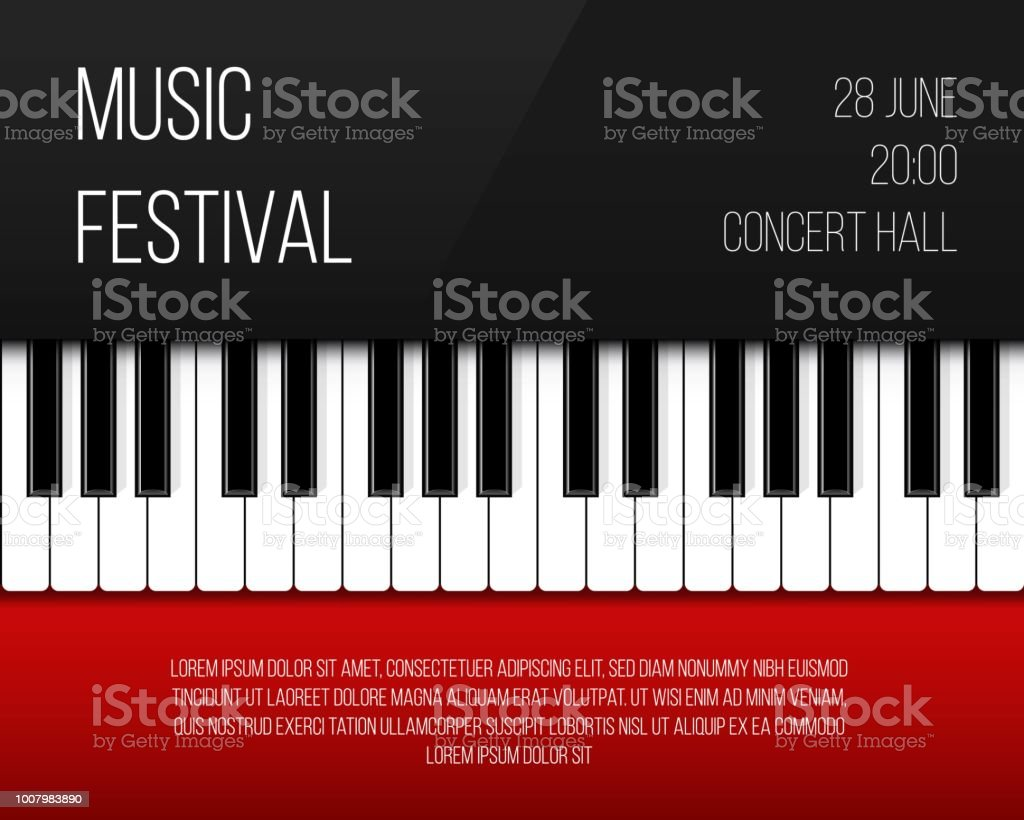 Creative Vector Illustration Of Piano Keys Art Design Jazz Live Concert Music Background Abstract