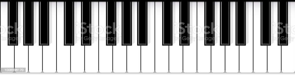 Piyano tuşları yaratıcı vektör Illustration. Sanat tasarım caz canlı konser müzik arka plan. Soyut kavram grafik öğesi. Afiş, el ilanı, broşür veya davet şablonu - Royalty-free Akustik Müzik Vector Art