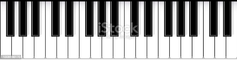 Creative vector illustration of piano keys. Art design jazz live concert music background. Abstract concept graphic element. Poster, flyer, leaflet or invitation template.