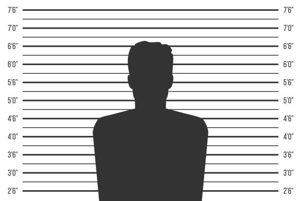 Creative vector illustration of police lineup, mugshot template with a table isolated on transparent background. Art design silhouette of anonymous. Abstract concept graphic element Creative vector illustration of police lineup, mugshot template with a table isolated on transparent background. Art design silhouette of anonymous. Abstract concept graphic element. mug shot stock illustrations