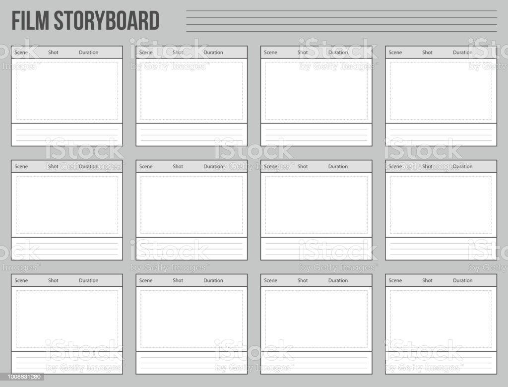 Kreative Vektorillustration Von Professionellen Film Storyboard ...