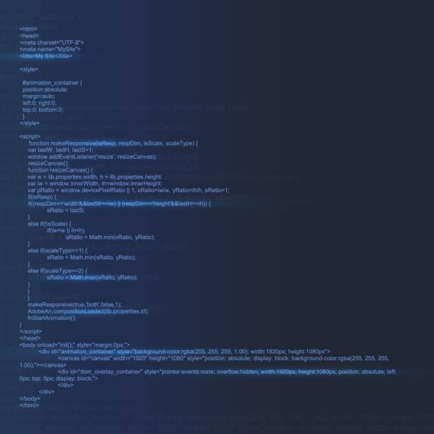 ilustrações, clipart, desenhos animados e ícones de ilustração em vetor criativo do código html na tela do computador isolado em fundo de programação. arte design digital da página. modo de exibição de lista do programa. elemento de tecnologia gráfica do conceito abstrato - code
