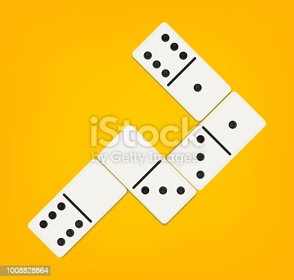 Creative vector illustration of realistic domino full set isolated on transparent background. Dominoes bones art design. Abstract concept 28 pieces for game graphic element.