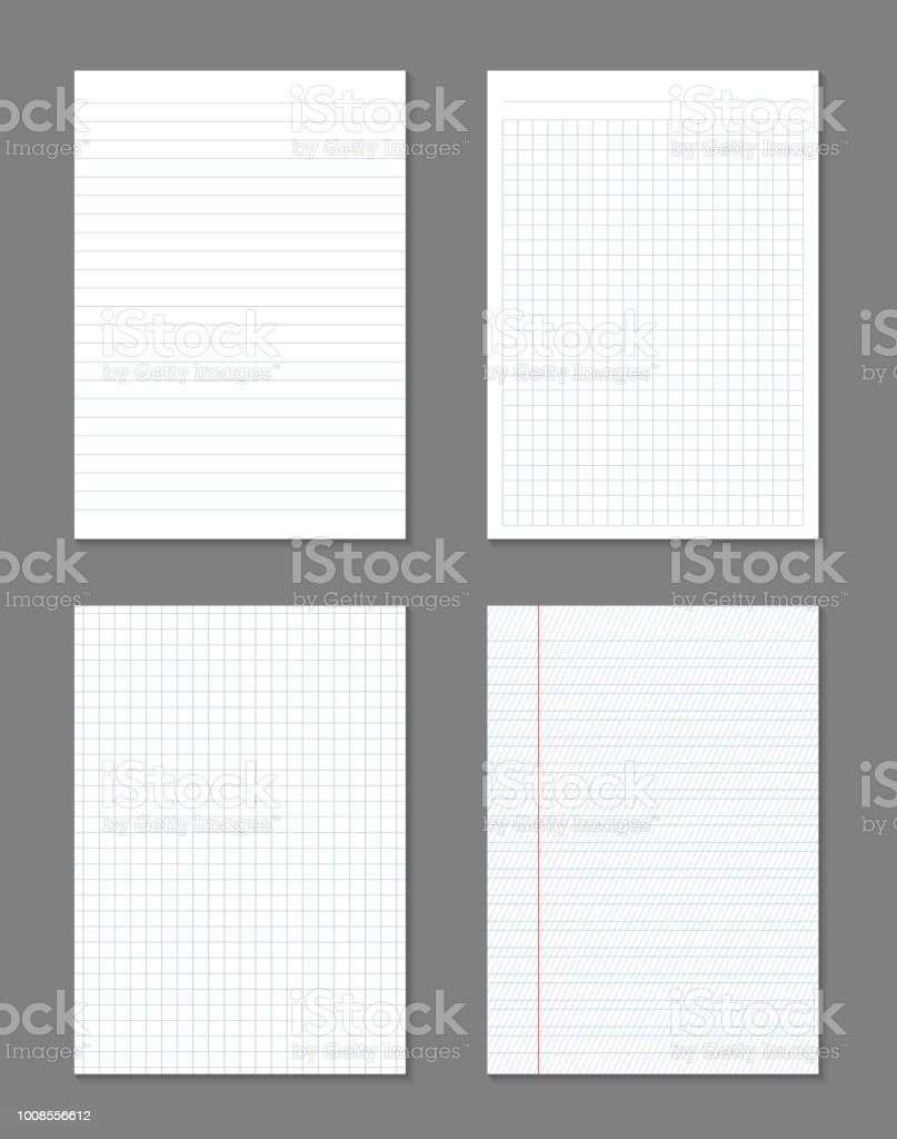 Creative Vector Illustration Of Realistic Square Lined Paper Blank