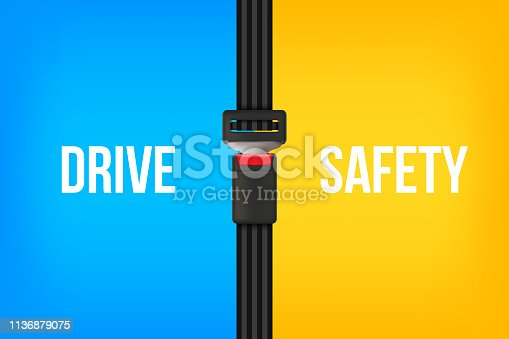 Creative vector illustration of safety seat belt, open and closed seatbelt isolated on transparent background. Art design road strap. Abstract concept car, airplane driver protection graphic element.