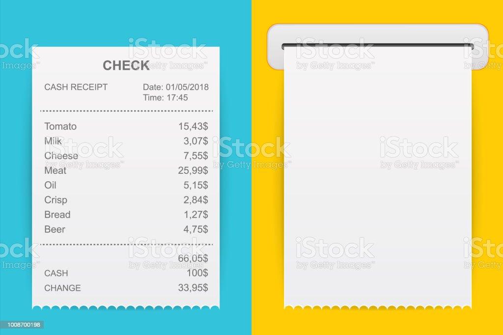 creative vector illustration of sales printed receipt art design