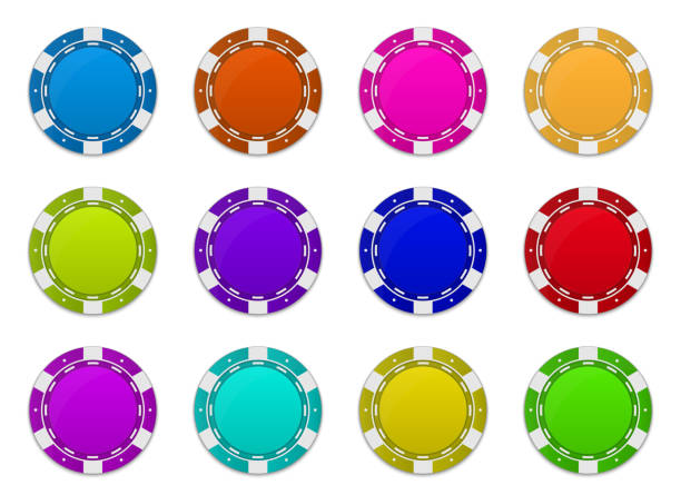 Creative vector illustration of set casino poker chips in flip different angles position isolated on transparent background. Art design blank mockup template. Abstract concept graphic element Creative vector illustration of set casino poker chips in flip different angles position isolated on transparent background. Art design blank mockup template. Abstract concept graphic element. gambling chip stock illustrations