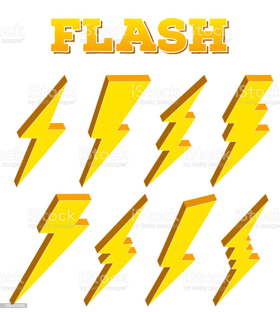 creative vector illustration of thunder and bolt lighting flash icon