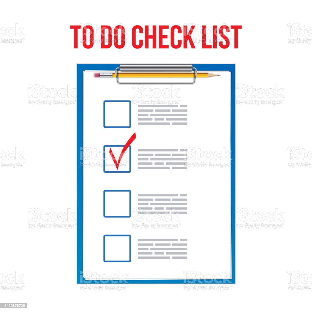 Creative vector illustration of to do check list ticks,clipboard on...