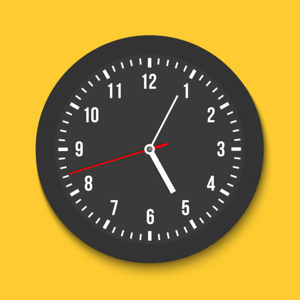 Creative vector illustration of top view simple classic wall office clock isolated on transparent background. Art design time template closeup mockup. Abstract concept graphic clockwise, element Creative vector illustration of top view simple classic wall office clock isolated on transparent background. Art design time template closeup mockup. Abstract concept graphic clockwise, element. wall clock stock illustrations