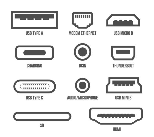 Computer Port Illustrations, Royalty-Free Vector Graphics