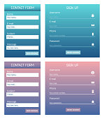 Creative vector illustration of web site registration or login contact form isolated on background. UI and UX art design. Abstract concept graphic templates and scribbles for websites element