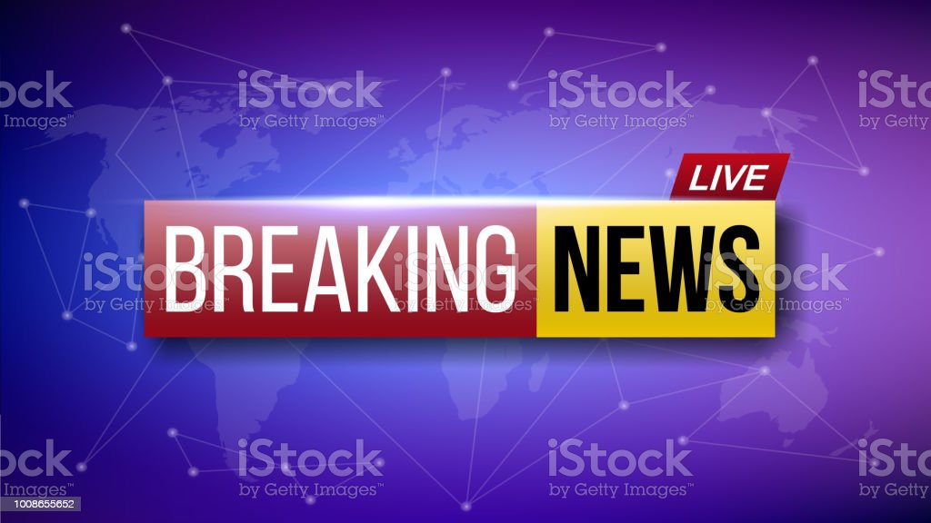 Creative Vector Illustration Of World Live Breaking News Tv