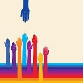 creative vector of teamwork concept