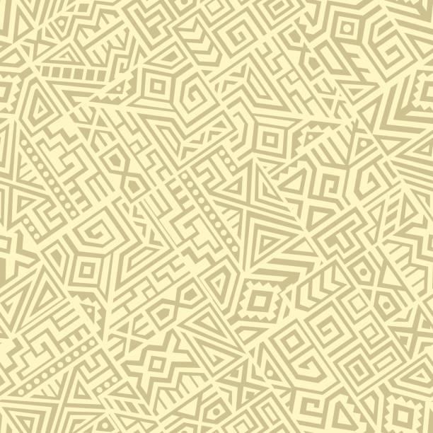creative vector seamless pattern - tribal pattern stock illustrations, clip art, cartoons, & icons