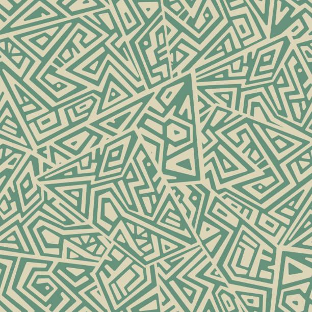 stockillustraties, clipart, cartoons en iconen met creatieve vector naadloze patroon - tribale kunst