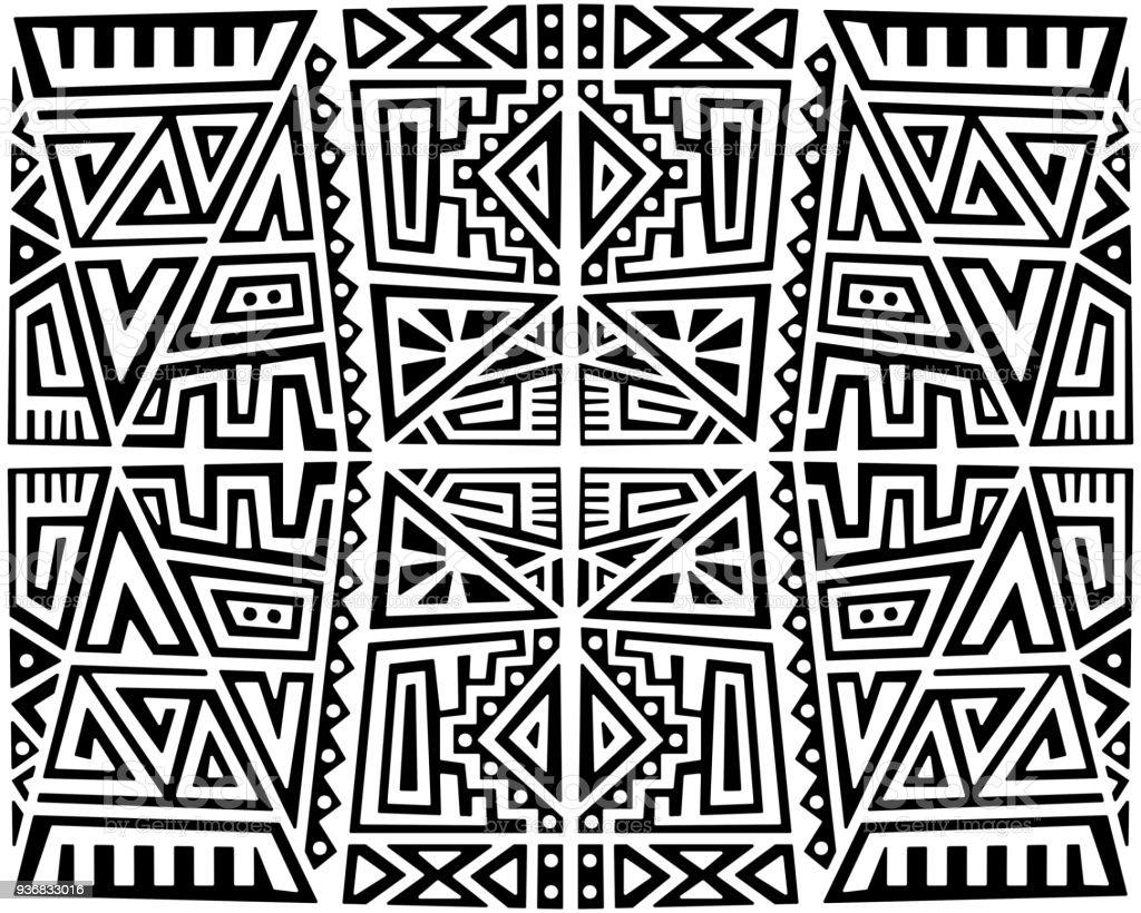 Vector criativo sem costura padrão - ilustração de arte em vetor