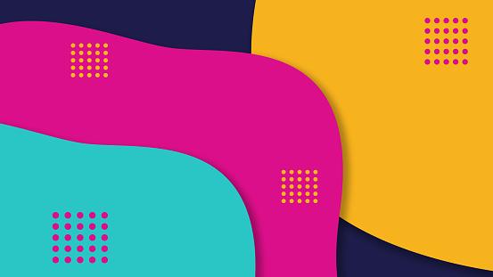 Creative vivid color geometry background