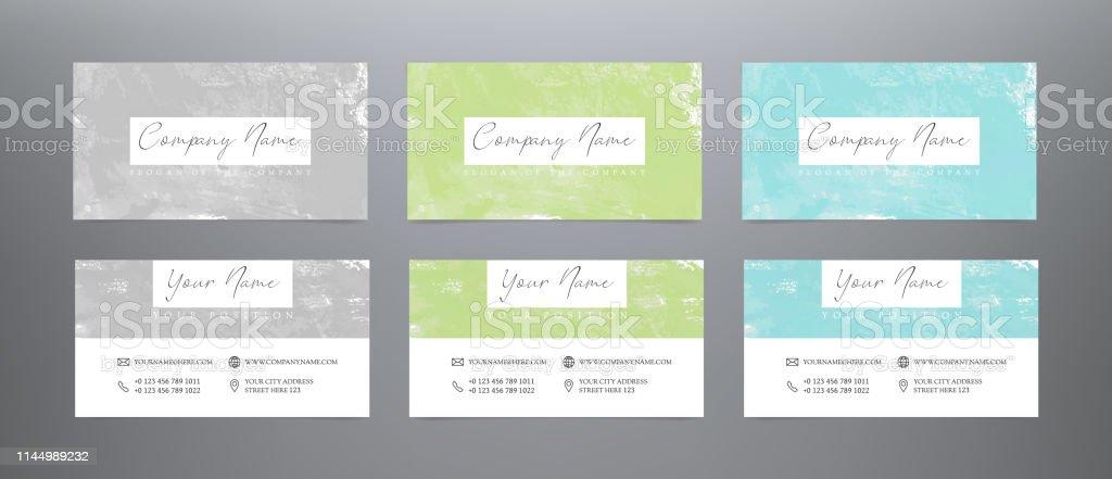 Kreative Visitenkarten Aquarell Stock Vektor Art Und Mehr