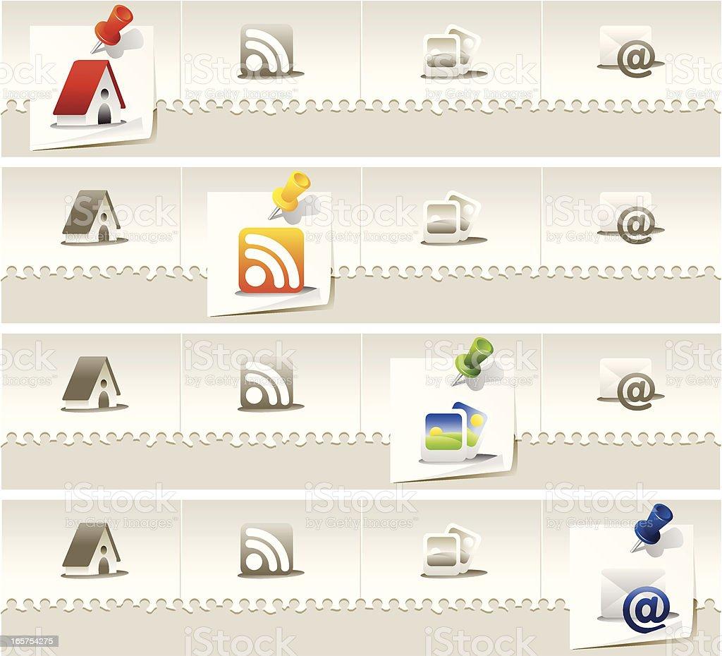 Creative website navigation royalty-free creative website navigation stock vector art & more images of blogging