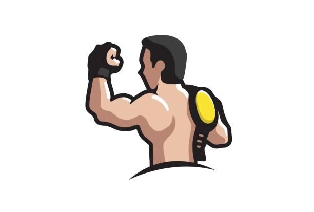 Creative Winner Fighter Sport Design Symbol vector art illustration