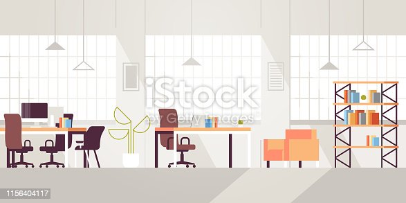 istock creative workplace modern open space empty nobody office interior contemporary co-working center flat horizontal 1156404117