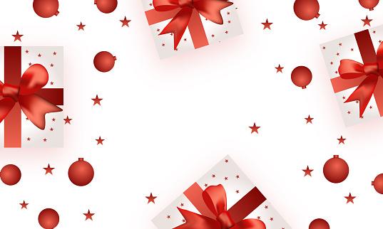 Un diseño creativo de caja de regalo envuelto con cinta - ilustración vectorial