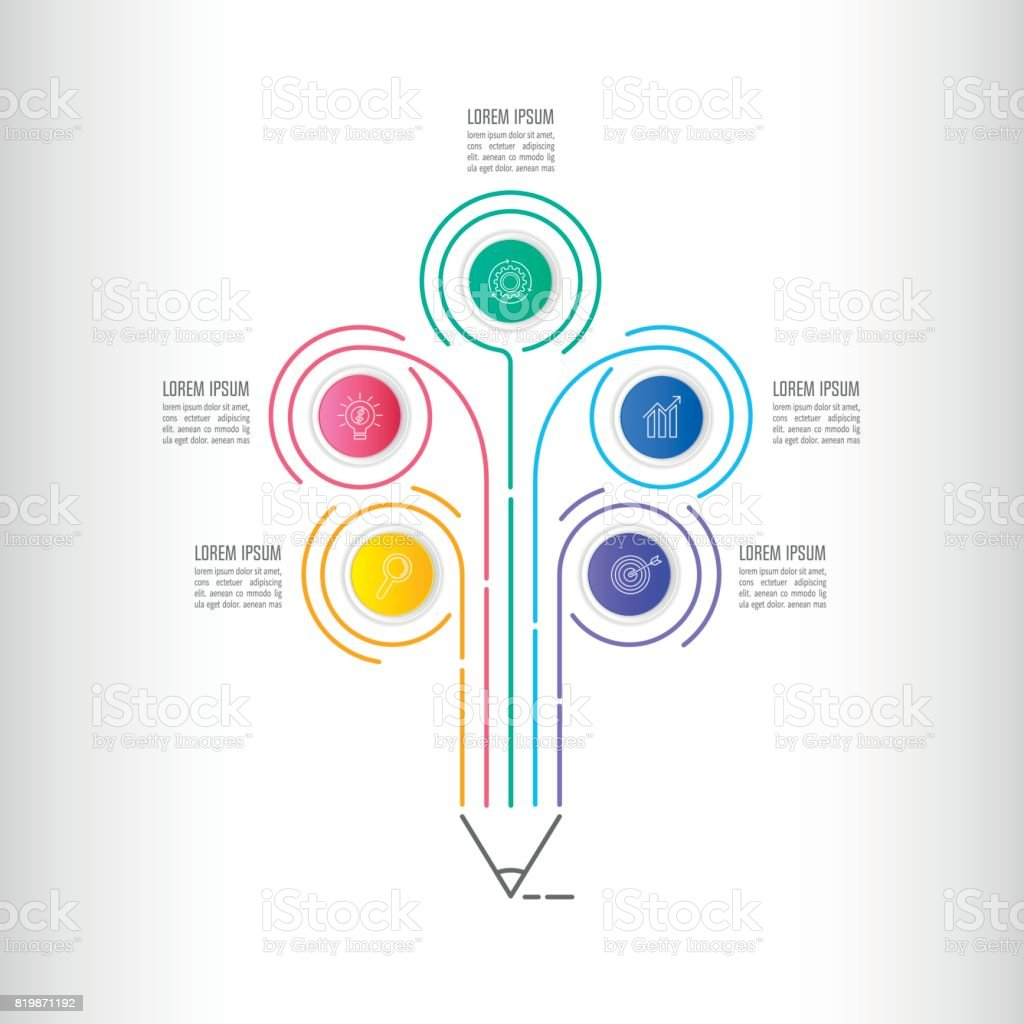 Escritura Creativa Opción De Paso De Plantilla 5 De Infografías De ...