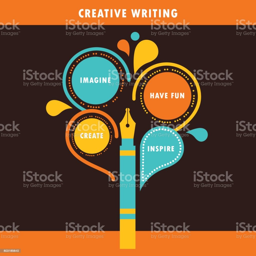 Creative Writing Infographics Template vector art illustration
