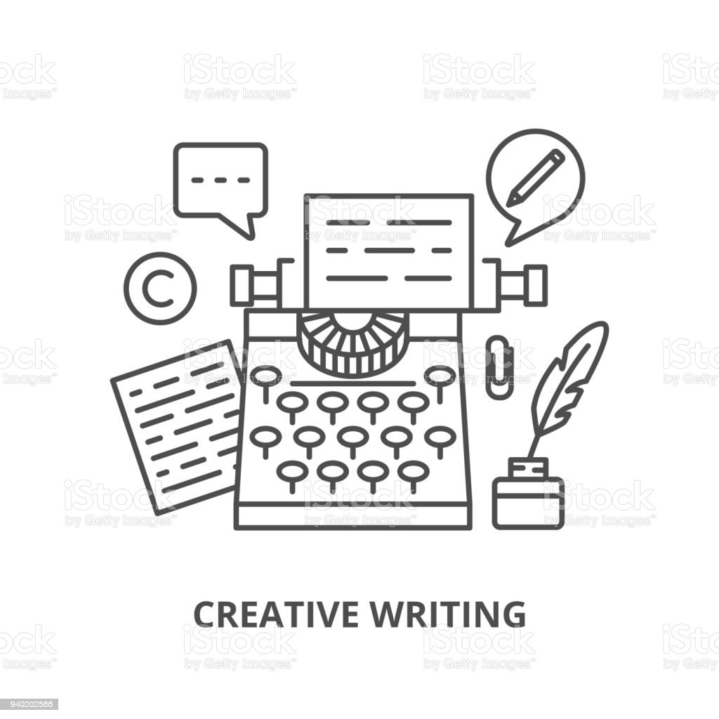 creative writing silhouettes icons set stock vector art & more