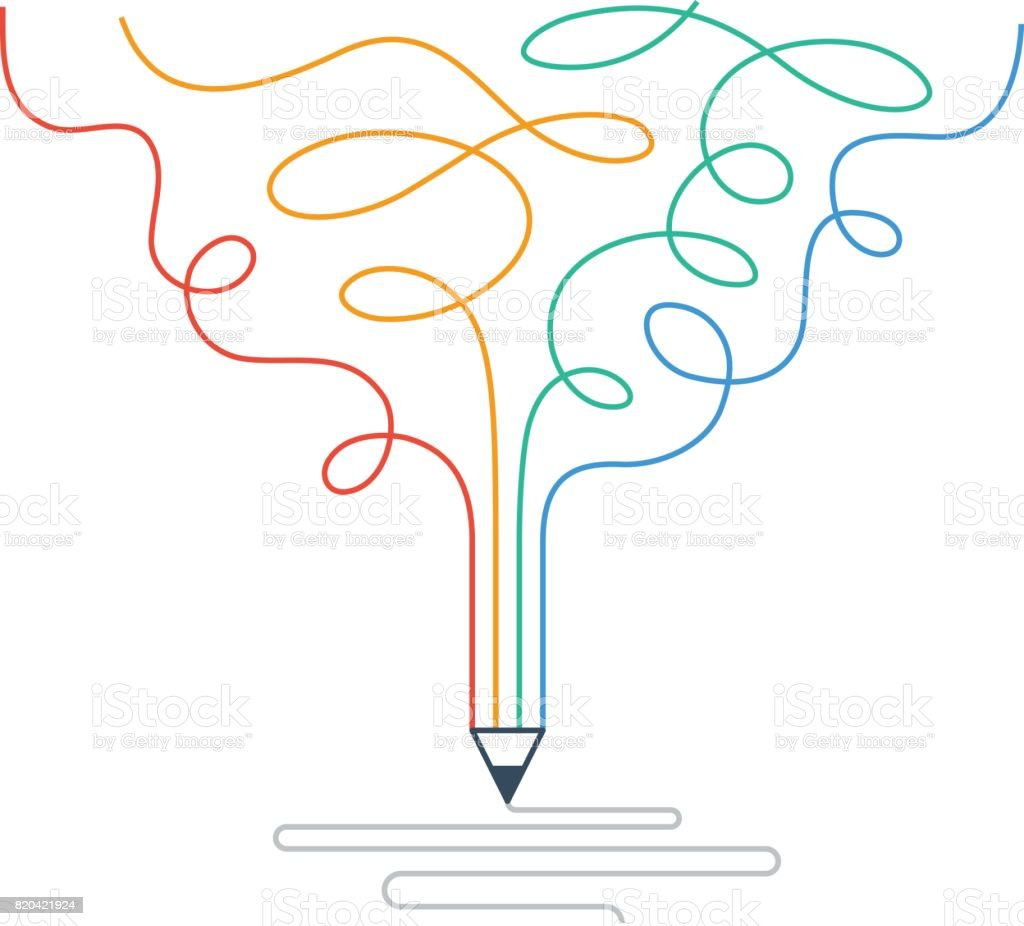 Creative writing, storytelling, graphic design studio symbol royalty-free creative writing storytelling graphic design studio symbol stock illustration - download image now
