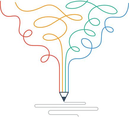 Creative writing, storytelling, graphic design studio symbol