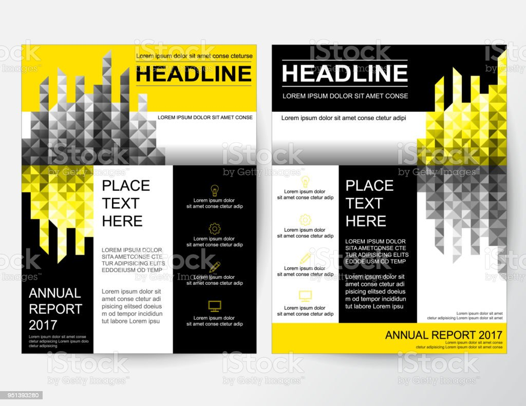 creative yellow abstract design layout for business stock vector art
