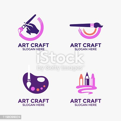 Creativity and art vector logo design. Great for branding and company profile