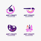 istock Creativity and art vector logo design 1198099024