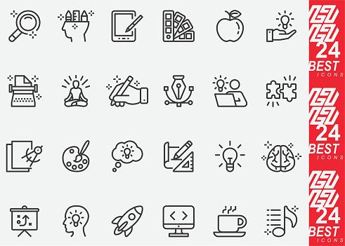 Creativity and Designer Line Icons