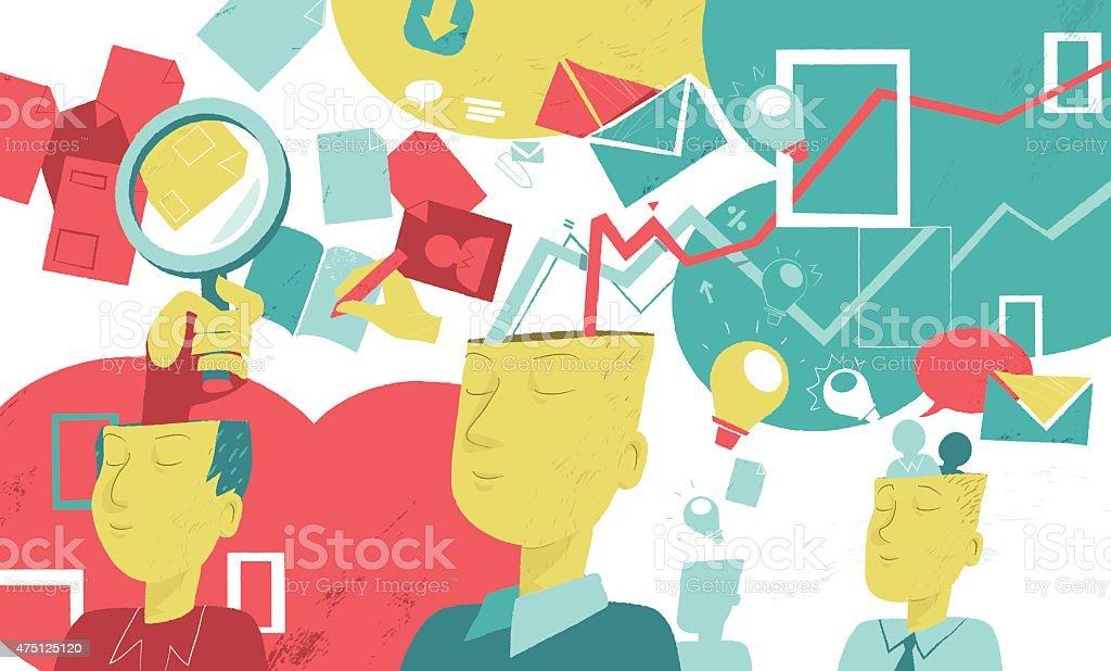 Creativity Business vector art illustration