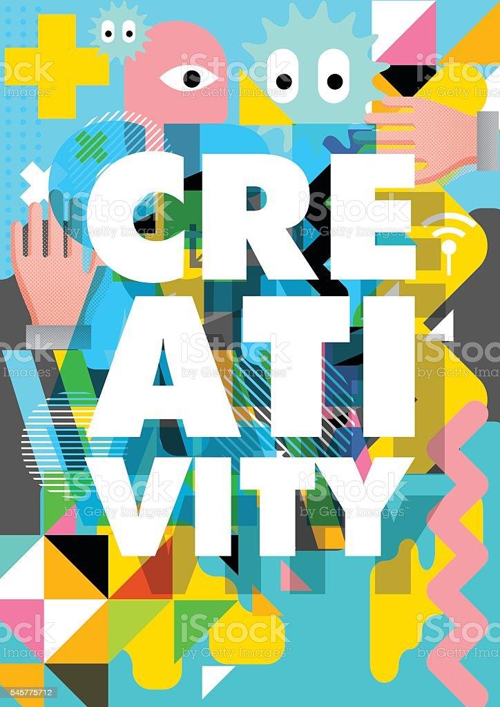 Creativity design vector art illustration
