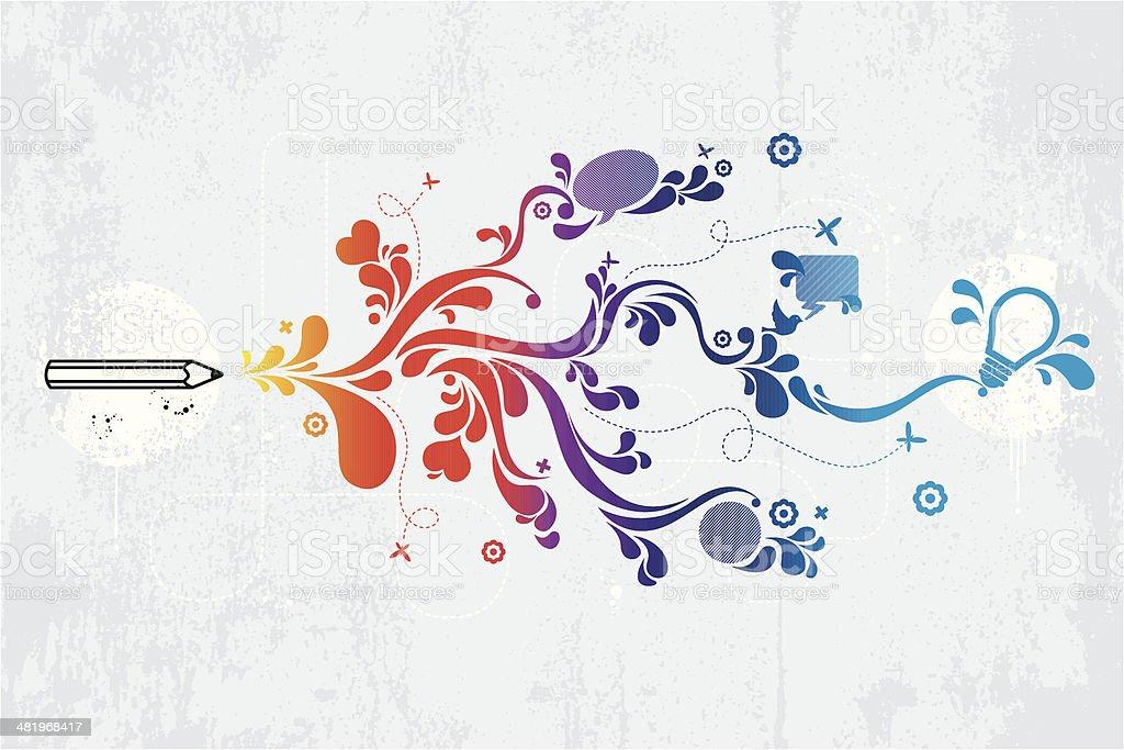 Kreativität graffiti - Lizenzfrei Abstrakt Vektorgrafik