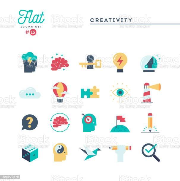 Creativity imagination problem solving mind power and more flat icons vector id856279476?b=1&k=6&m=856279476&s=612x612&h=cmytmpge6oberyhzdwxwp5kxoklw2svd4r3cqlvngja=