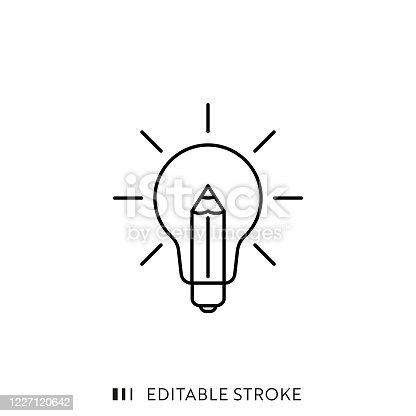 istock Creativity Line Icon with Editable Stroke and Pixel Perfect. 1227120642