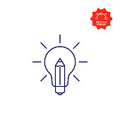 istock Creativity Line Icon with Editable Stroke and Pixel Perfect. 1227120674