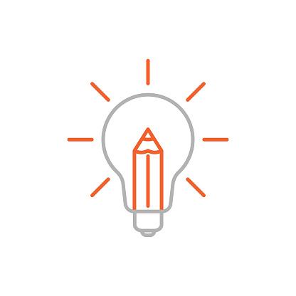 Creativity Line Icon with Editable Stroke