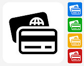 Credit and Debit Cards Icon Flat Graphic Design