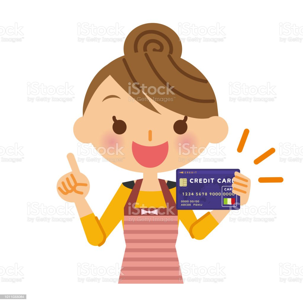 credit card and housewife stock vector art more images of