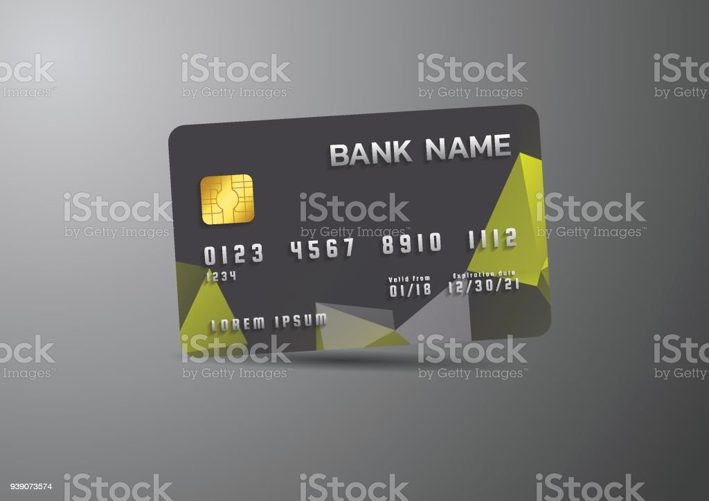 Credit card black on grey background with shadow modern business credit card black on grey background with shadow modern business card template design royalty accmission Image collections